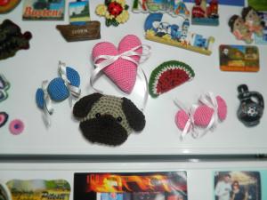"Magnet frigider "" Pug'', crosetat, 7 cm"