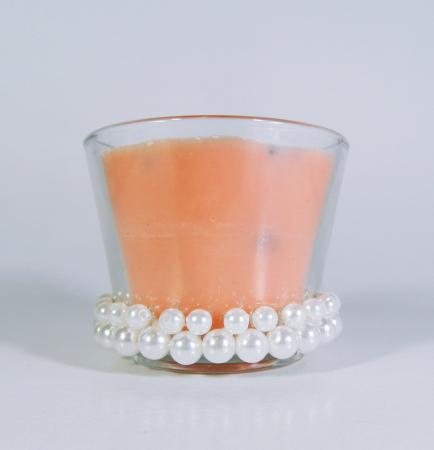 Lumanare decorativa parfumata in borcan, 6cm, portocaliu0
