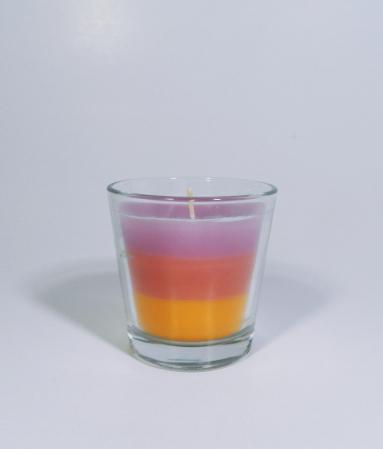 Lumanare decorativa parfumata in borcan, 6cm, multicolor2