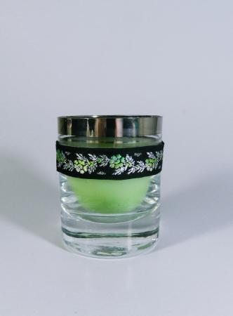 Lumanare decorativa parfumata in borcan, 8cm, verde0