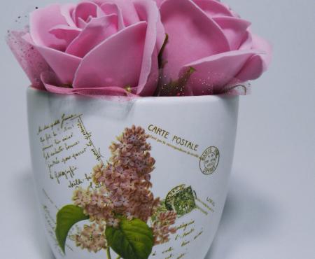 Aranjament Flori Sapun Parfumate in Ghiveci2
