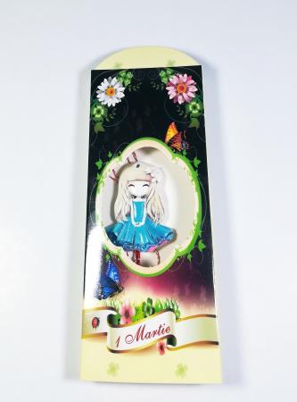 Martisor model fetita, Multicolor, 4cm0