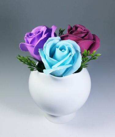 Aranjament Flori Sapun Parfumate in vas0