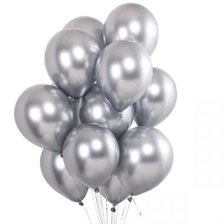 Set 50 baloane cromate , Argintiu, 30 cm [0]