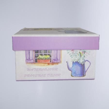 Cutie cadou cu model, Multicolor, 12.5 x 12.5cm0