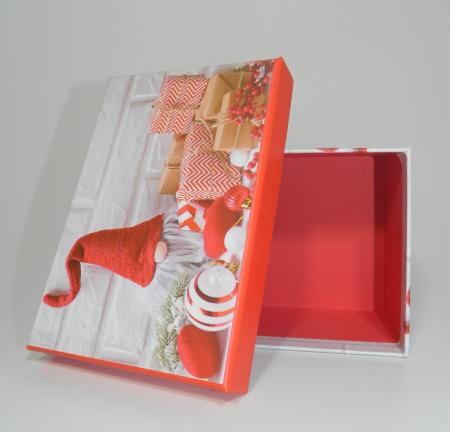 Cutie Cadouri Craciun cu model, Multicolor 16 x 7.5 x 11cm3