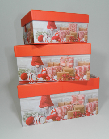 Cutie Cadouri Craciun cu model, Multicolor 16 x 7.5 x 11cm4