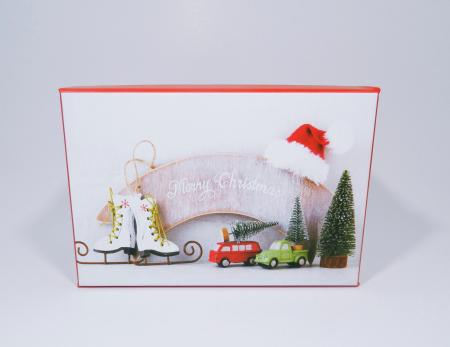 Cutie Cadouri Craciun cu model, Multicolor, 21 x 8 x 14 cm0