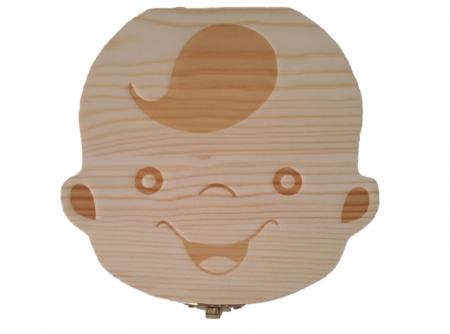 Cutie de lemn pentru pastrarea dintilor de lapte, baiat [0]