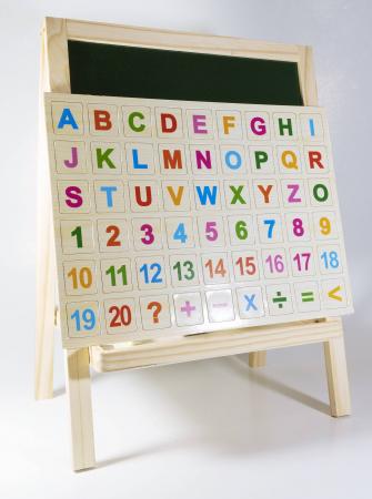Tabla magnetica 2 in 1, litere + cifre + abac incluse2