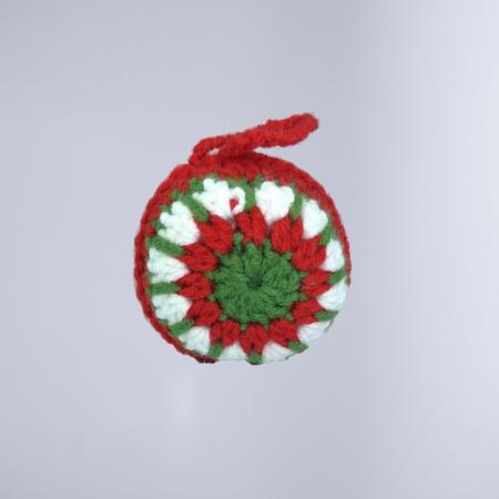 Glob Craciun, Handmade, Traditional, Crosetat, Multicolor, 7 x 7 cm0