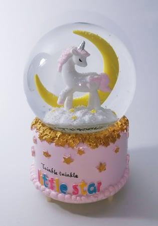 Glob muzical de zapada, model Unicorn, multicolor, 14cm