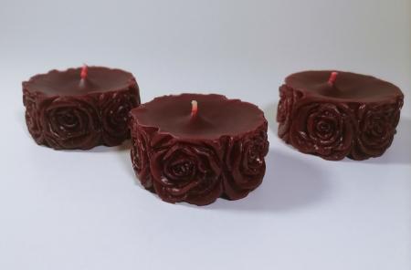 Lumanare decorativa parfumata, rosu, 5 cm [2]