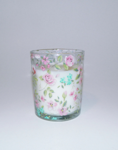 Lumanare decorativa parfumata in borcan, cu aroma de Vanilie, 8x6 cm, alb2