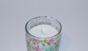 Lumanare decorativa parfumata in borcan, cu aroma de Vanilie, 8x6 cm, alb3