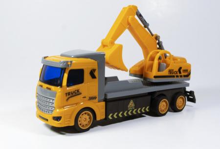 Camion Escavator cu Telecomanda, Lumini si Sunete 20 cm, Multicolor0