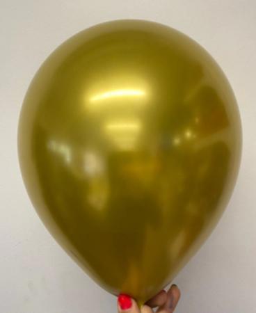 Set 10 baloane cu confetti, culoare auriu, 30 cm [1]