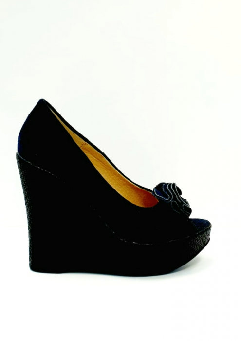 Pantofi Dama Piele Naturala Albastri Groza D02706 0