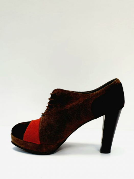 Pantofi cu toc Piele Naturala Maro Andy D02712 1