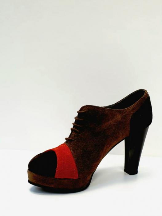 Pantofi cu toc Piele Naturala Maro Andy D02712 2
