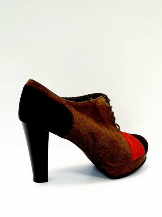 Pantofi cu toc Piele Naturala Maro Andy D02712 3