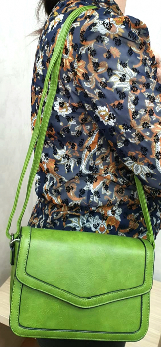 Geanta Dama Piele Verde Eleni G00204 0