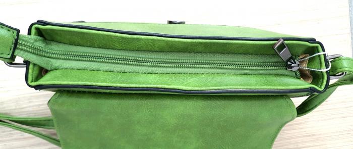 Geanta Dama Piele Verde Eleni G00204 5