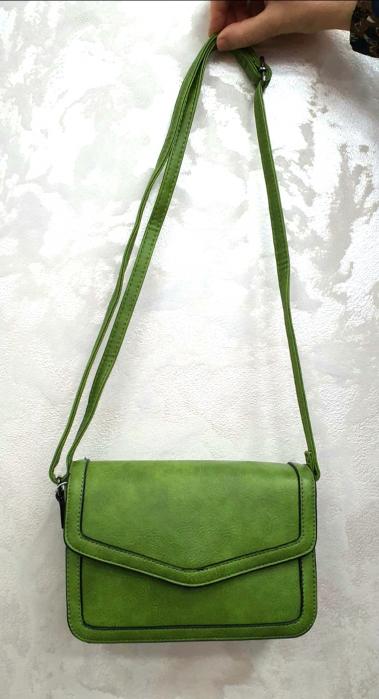 Geanta Dama Piele Verde Eleni G00204 4