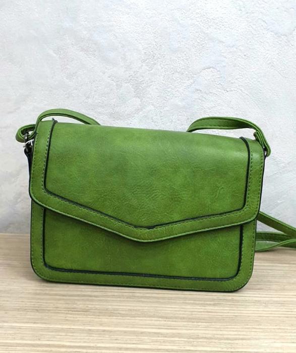 Geanta Dama Piele Verde Eleni G00204 1