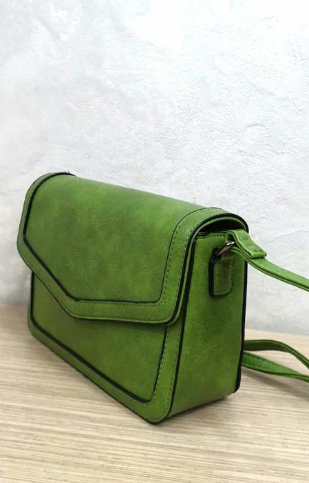 Geanta Dama Piele Verde Eleni G00204 2
