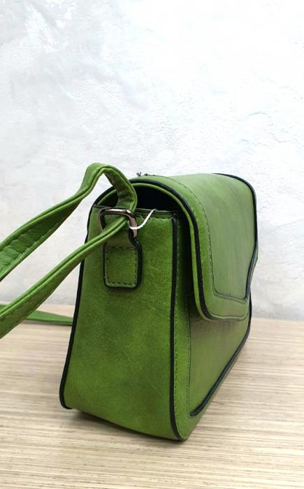 Geanta Dama Piele Verde Eleni G00204 3