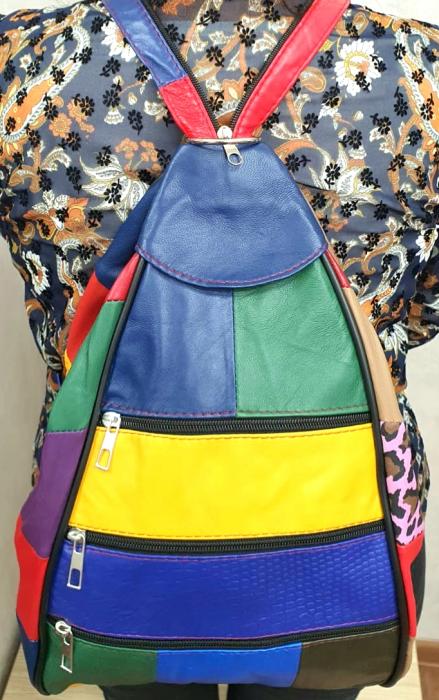 Rucsac Dama Piele Naturala Multicolor Seana G00287 0