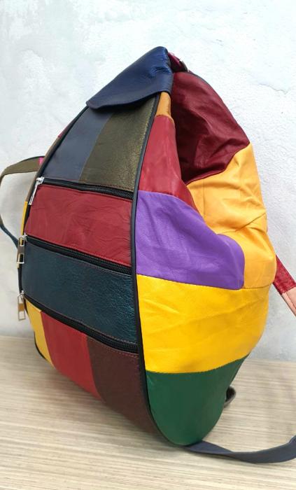 Rucsac Dama Piele Naturala Multicolor Seana G00313 5