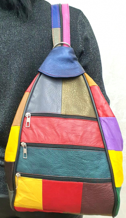 Rucsac Dama Piele Naturala Multicolor Seana G00313 0