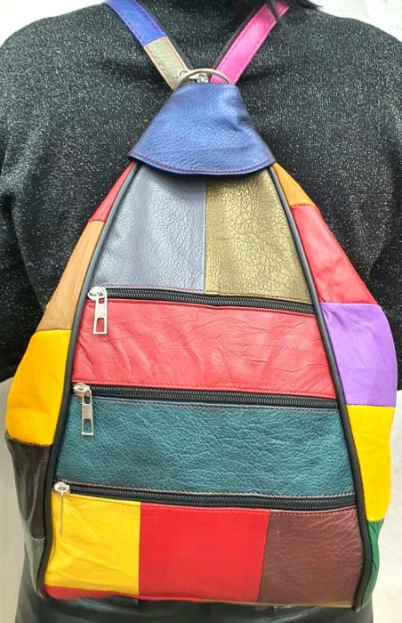 Rucsac Dama Piele Naturala Multicolor Seana G00313 1