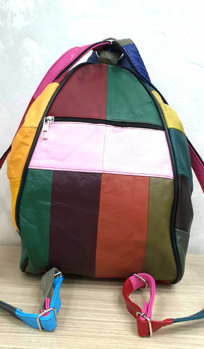 Rucsac Dama Piele Naturala Multicolor Seana G00313 3