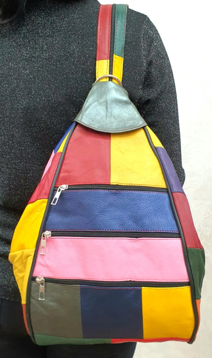 Rucsac Dama Piele Naturala Multicolor Seana G00344 0
