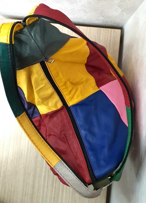 Rucsac Dama Piele Naturala Multicolor Seana G00344 3
