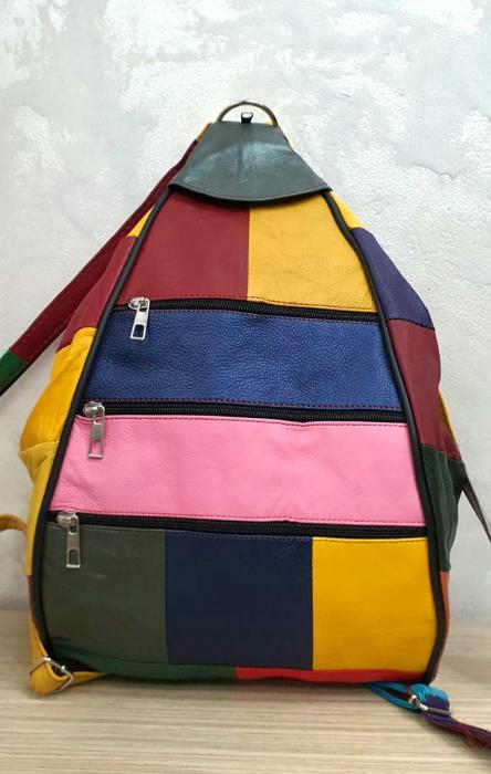 Rucsac Dama Piele Naturala Multicolor Seana G00344 1
