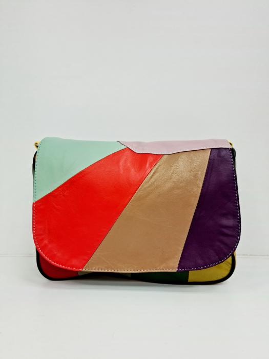 Geanta Dama Piele Naturala Multicolora Ada G00699 2