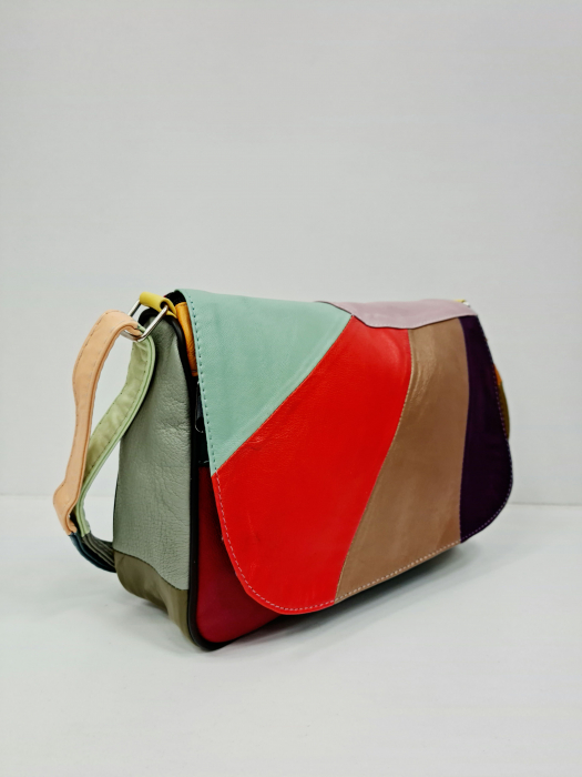 Geanta Dama Piele Naturala Multicolora Ada G00699 5