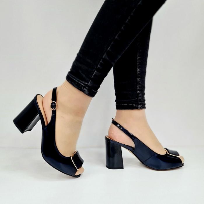 Sandale Dama Piele Naturala Bleumarin Epica Naely D02671 0
