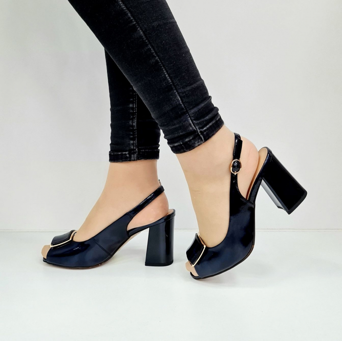 Sandale Dama Piele Naturala Bleumarin Epica Naely D02671 1