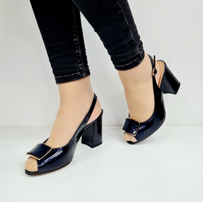 Sandale Dama Piele Naturala Bleumarin Epica Naely D02671 2