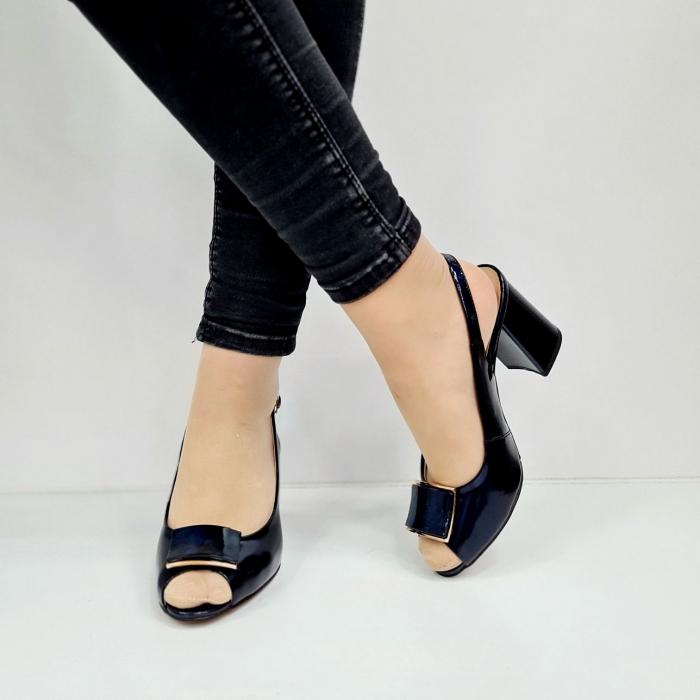 Sandale Dama Piele Naturala Bleumarin Epica Naely D02671 3