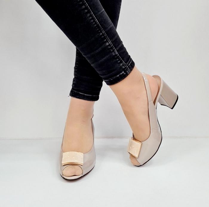 Sandale Dama Piele Naturala Bej Epica Heloisa D02672 3