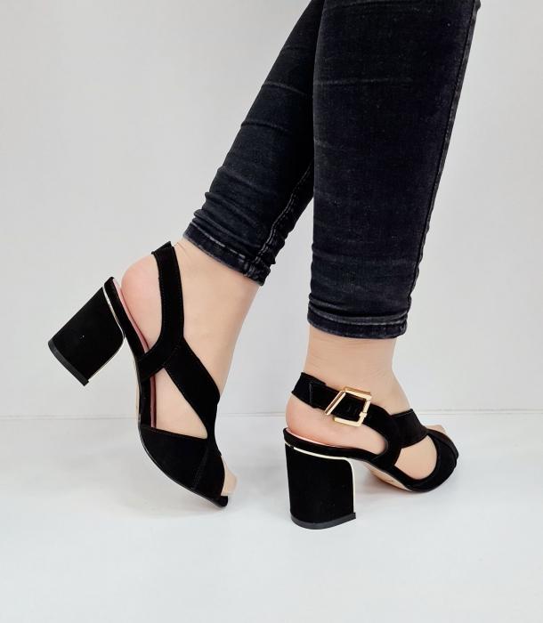 Sandale Dama Piele Naturala Negre Epica Tamara D02673 5