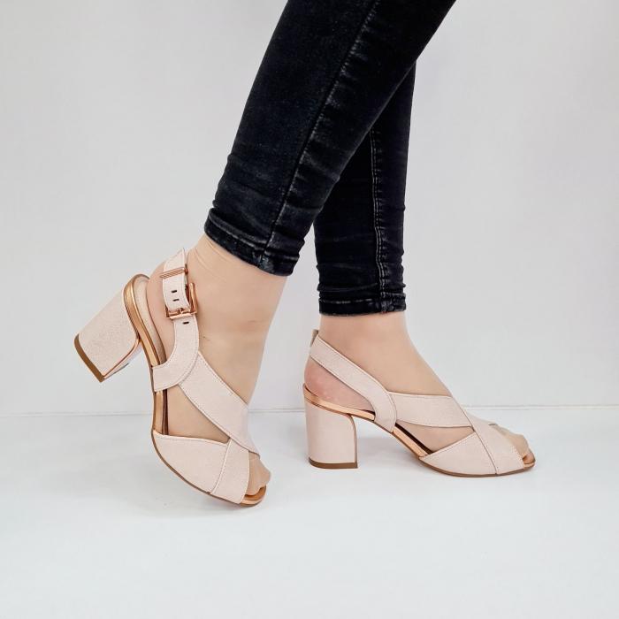 Sandale Dama Piele Naturala Nude Epica Laisa D02674 0