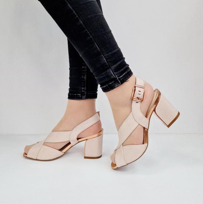 Sandale Dama Piele Naturala Nude Epica Laisa D02674 1