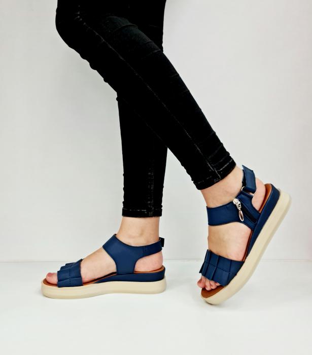 Sandale Dama Piele Naturala Bleumarin Prego Camille D02757 [1]
